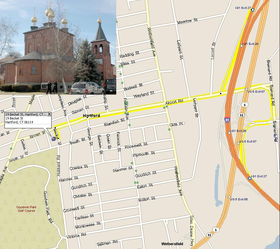 Directions to St. Panteleimon Russian Orthodox church